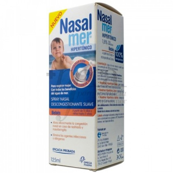 NASALMER SPRAY NASAL HIPERTONICO SUAVE 125 ML